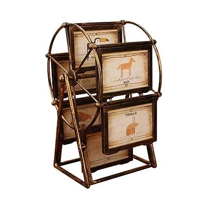 Marco giratorio de la foto de la rueda de la fortuna, decoración del escritorio de