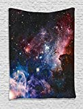 Ambesonne Space Decorations Collection, Stars Nebula, Colorful Explosive in Space Galaxy Astronomic Magical Picture Print, Bedroom Living Room Dorm Wall Hanging Tapestry, Navy Pink offers