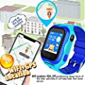 Kid Smart Watch Phone GPS Tracker Accurate WiFi Locator IP68 Waterproof Safety Smartwatch Holiday for 3-12 Year Girl Boy Game Smart Wristwatch SOS Camera Anti-Lost