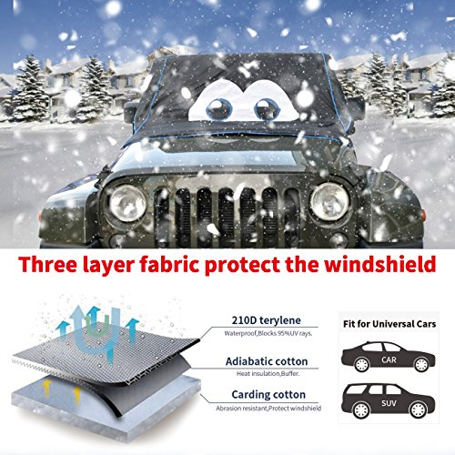 For Jeep cherokee/wranger JK/ Rengade Magnetic Car SUVs Windshield Snow Ice Frost Waterproof Cover