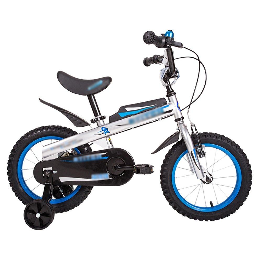 FEIFEI 子供用自転車12インチ14インチ16インチレッドブルーハンドルバーシートの高さ調節可能な安全で信頼性の高い ( 色 : 青 , サイズ さいず : 14 inch ) B07CRPLCDM 14 inch|青 青 14 inch