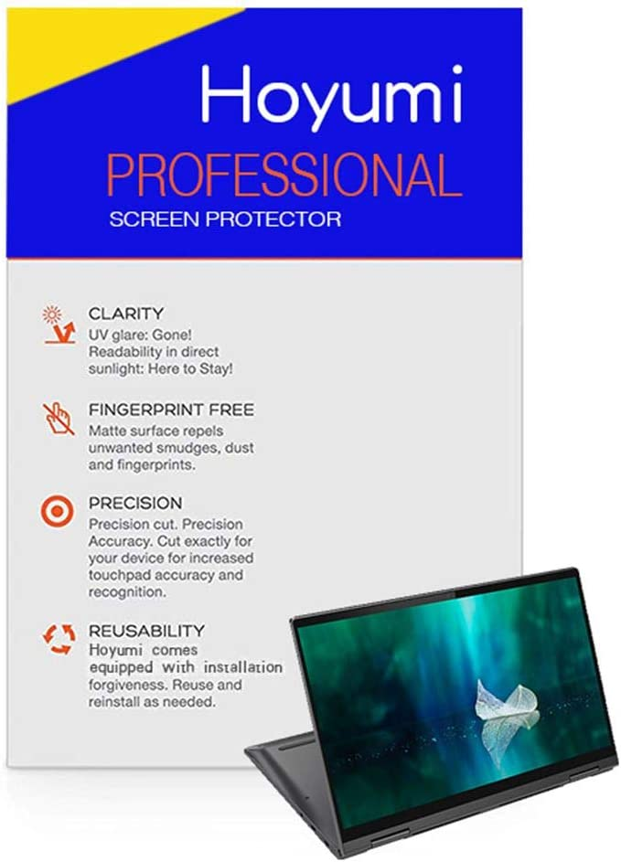 Hoyumi Screen Protector Compatible with Lenovo Yoga C740 15 Inch Screen Laptop Matte Screen Protector 15.6 Inch 2Pcs (15.6 Inch, Anti Glare Matte Screen Protector)