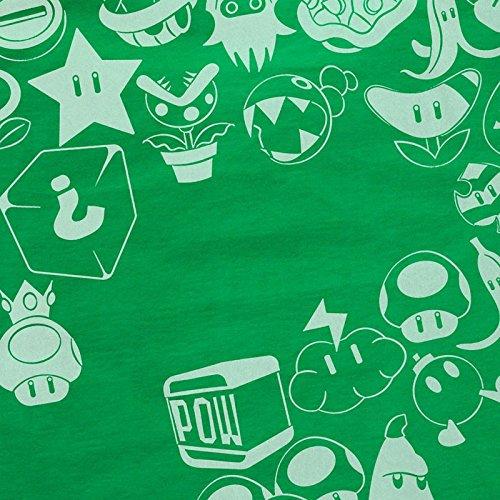 Mario World Hormiga camiseta Consola para Green de nivel videojuegos Super de hombre Items de y1zzfrKZ