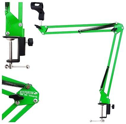 Keepdrum 5-nb35 gr verde mesa de micrófono brazo de trípode brazo ...