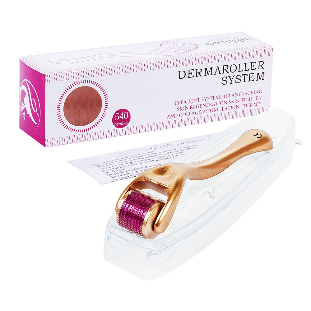 Derma Roller 0.5mm+Free User Guide for Skin Treatment,Effective for Acne,Wrinkles,Stretch Marks,Hairs Loss,Scar,and Hyper-pigmentation uskincare