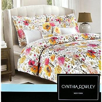 Amazon Com Cynthia Rowley Exotic Floral Print Bedding