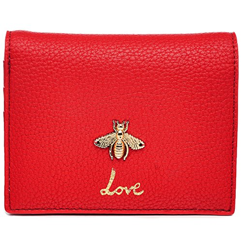 Dream Control Cute Bumble Bee Love CC and Coin Mini Small Wallet Purse Red by Dream Control