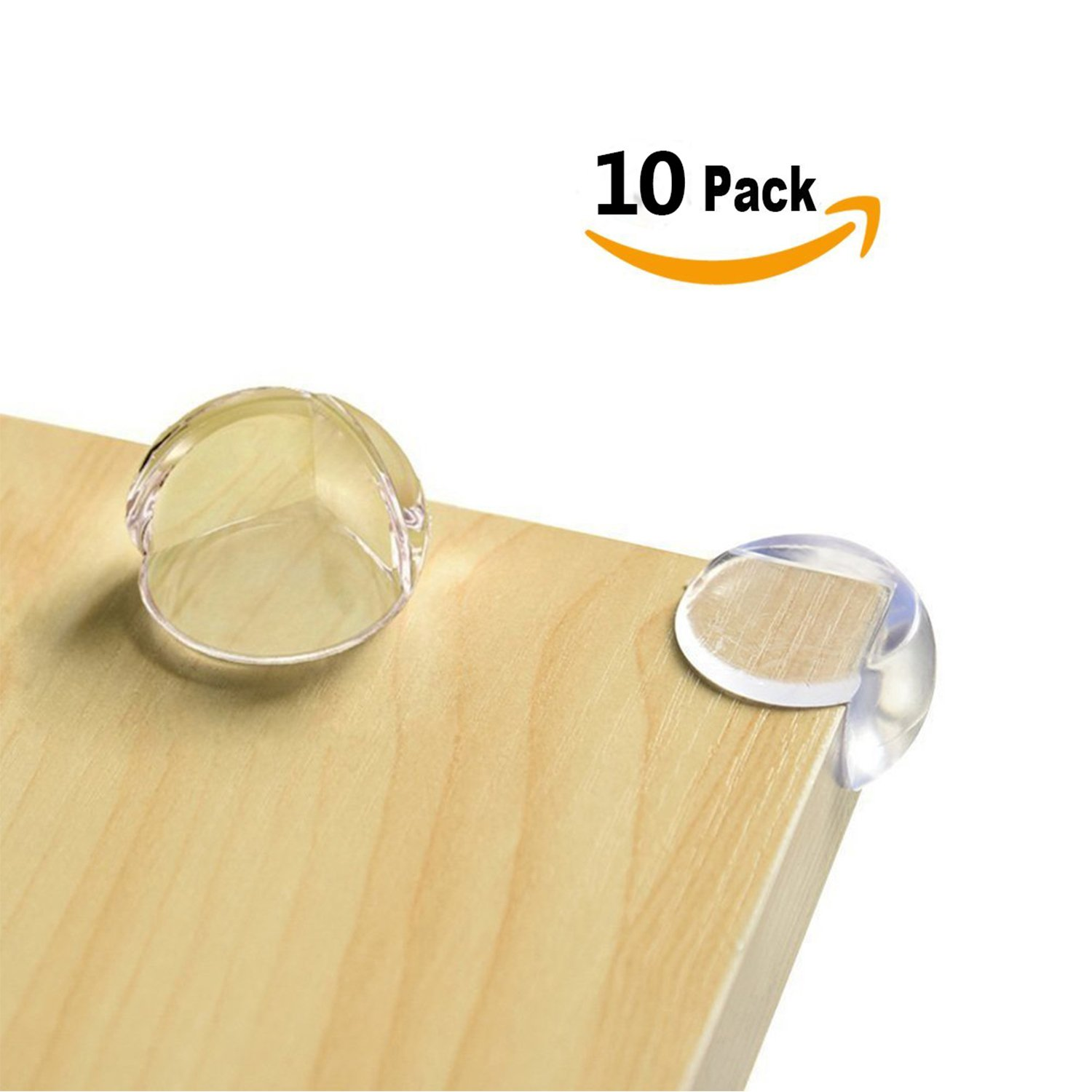 Baby Caring Clear Corner Protectors Child Proof Safety Corner Bumpers for Furniture Edge Help Protect Kids Against Bumps and Injuries 10-Pack Ball Shape Clear Table Corner Guards with Matte Finish Transparent with 3M Adhesive LPHUS