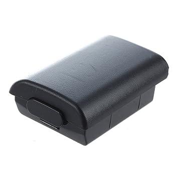 SODIAL(R) Tapa Cache – Funda Carcasa Funda de Batería Negro para Microsoft Xbox 360 Mando