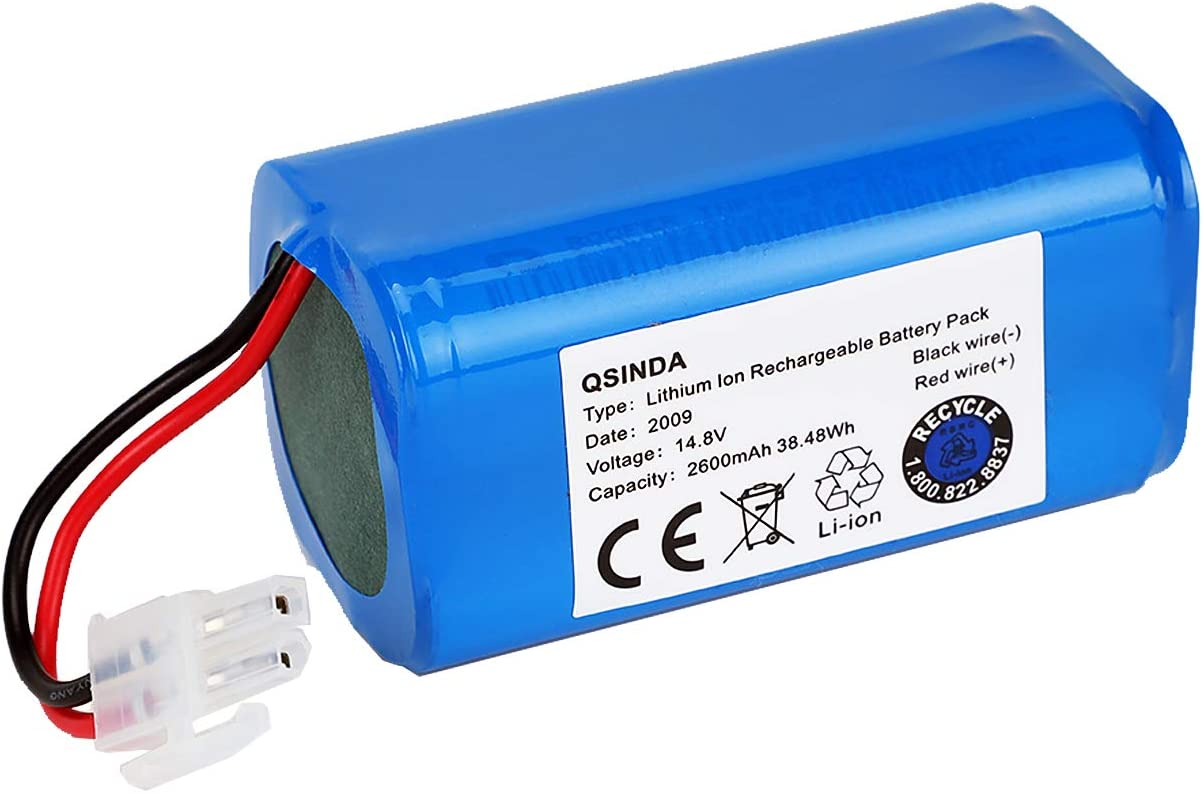 Replacement Battery Compatible with ILIFE A4 A4S A6 V7 Robot Vacuum Cleaner (14.8V 2600mah)