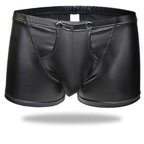 Leather gay hot male underwear photo