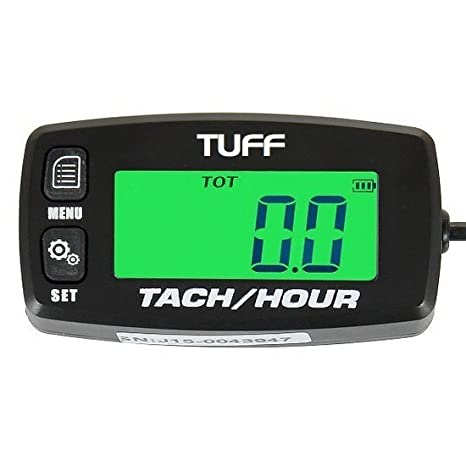 TUFF Tach / Hour Meter WATERPROOF UNIVERSAL Backlit Tachometer RPM Gauge  Lighted Display for - ATV PWC Outboard Yamaha Honda Engines Polaris Pumps