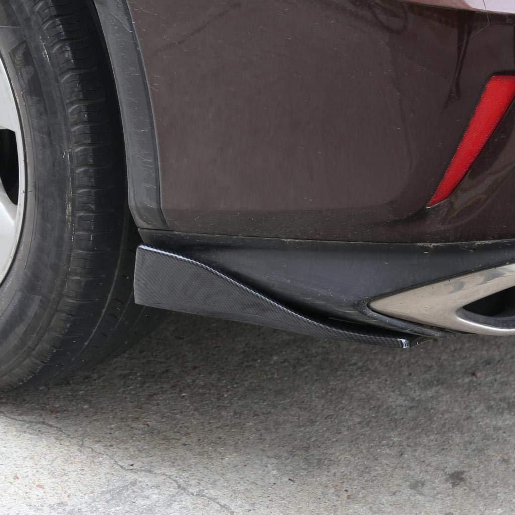 Almencla 2pcs Universal Car Rear Bumper Lip Winglets Side Skirt Extensions,35cm Style Angle Splitters Diffuser Decorative Protection