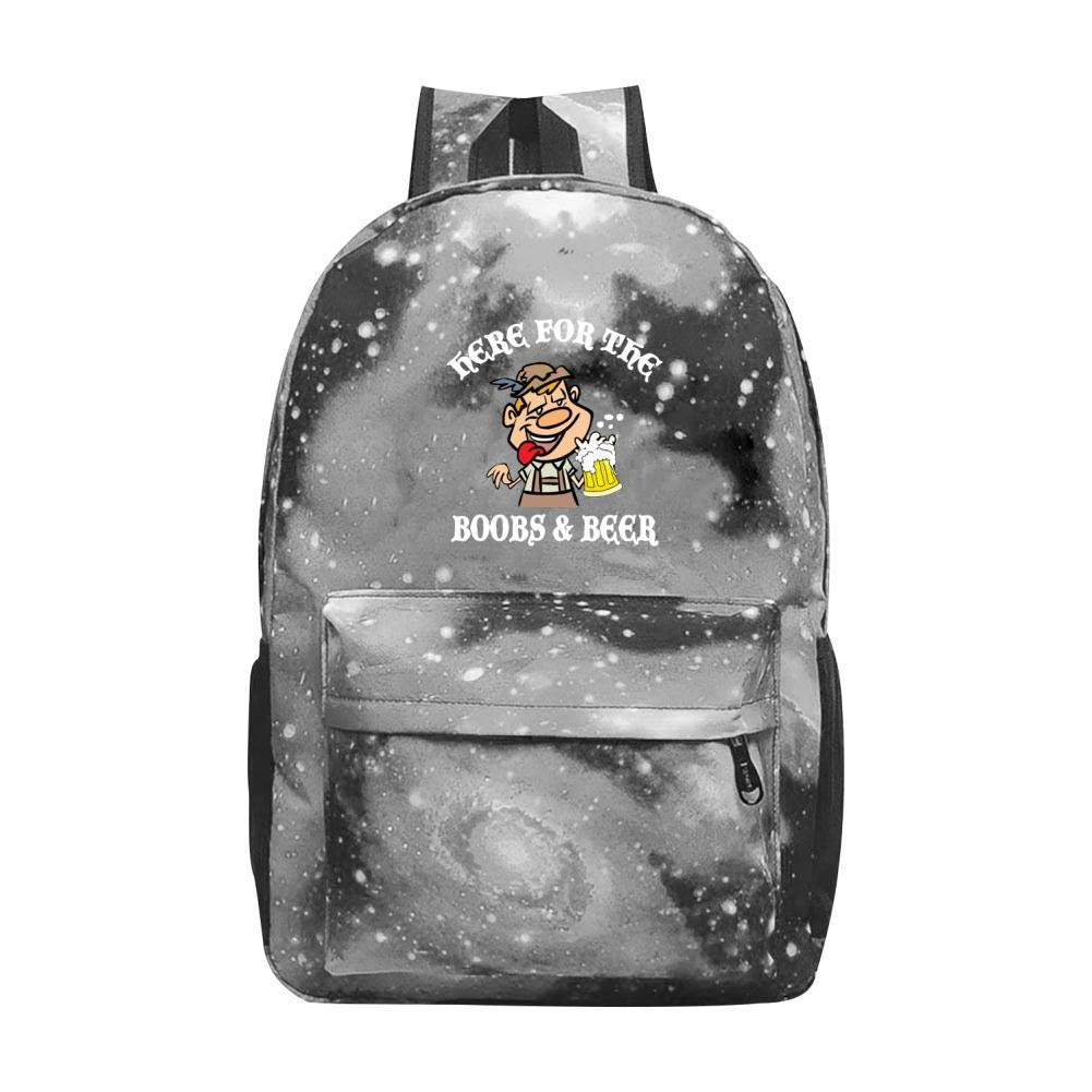 German Here for The Boobs and Beer Galaxy 宇宙 銀河 学校 バックパック 通学バッグ 大容量 20~35L バッグ ONE SIZE グレイ B07MSHSPH4 グレー ONE SIZE