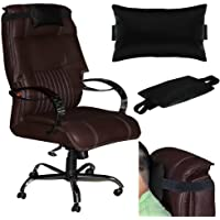 Acm Leather Cushion Pillow Head & Neck Rest Compatible with Full Back Office Chair
