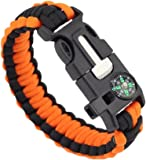 Estone Survival Paracord Bracelet Flint Fire Starter