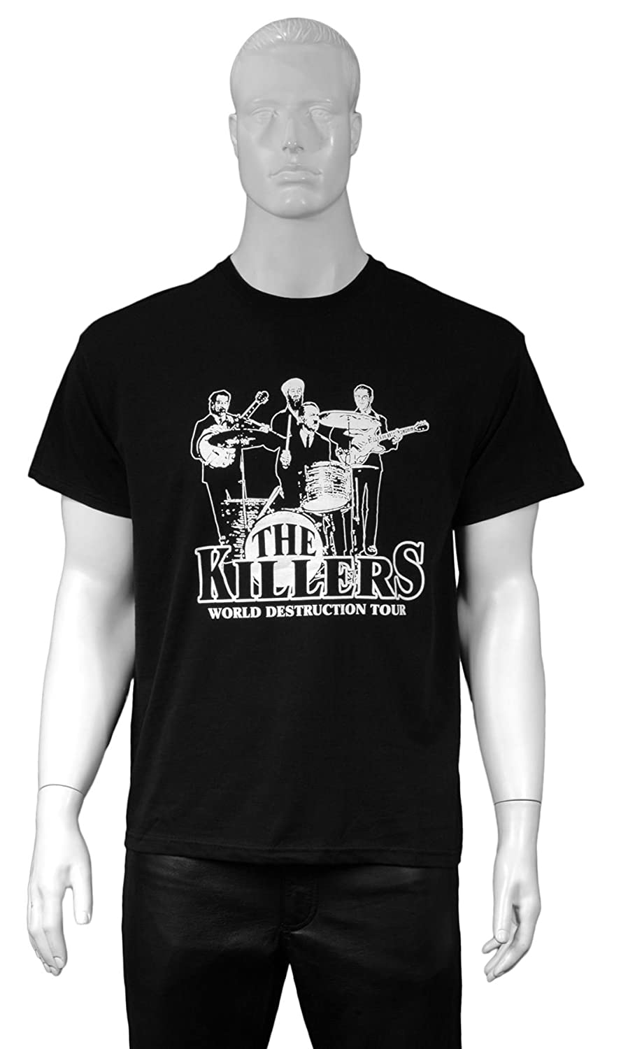 17df79f9e666 The Killers on Tour - Funny Sayings & Slogans Joke Mens T-shirt (Black)  (Large): Amazon.co.uk: Clothing