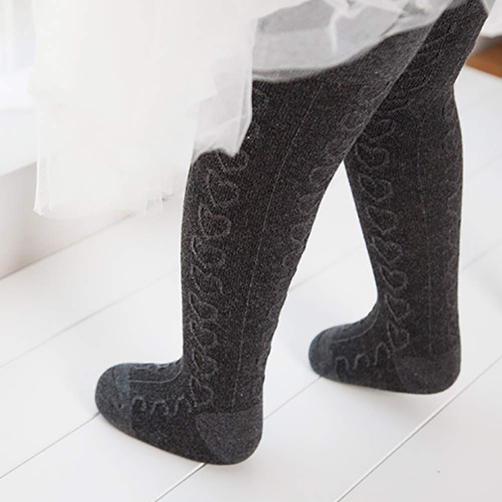 4 Pack Baby Girls Knit Tithts Footless Cotton Heart Pattern Leggings Pants Stockings 70-100cm