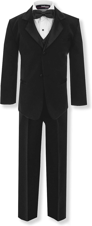 GG210 Boys Formal Tuxedo Dresswear Set Black 8