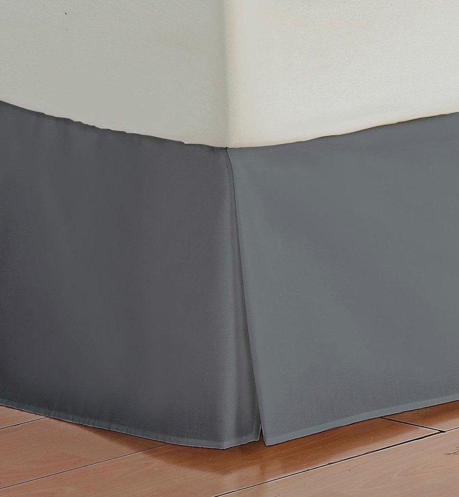 ベッドスカート450 TCホワイトRVサイズ25インチドロップbed-skirt長100 %エジプト綿 KING 78 X 80 B01LOJZBFY ダークグレー KING 78 X 80