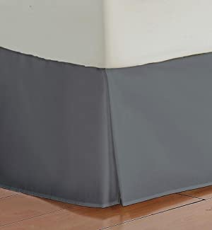 Bedskirt 750 TC DARK GRAY Twin Size Bed-Skirt with 25