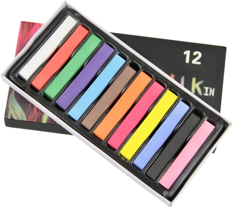 24 colores Coloración – tinte lápiz peinado tiza de cabello ...
