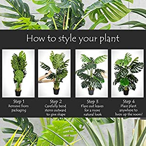 AMERIQUE Gorgeous 5 Feet Boston Fern Tree Artificial Silk Plant with UV Protection, Pre Nursery Pot, Feel Real Technology, Super Quality, Green 2