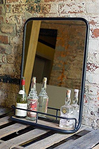 Vagabond Vintage Medium Metal and Glass Barber Shop Mirror
