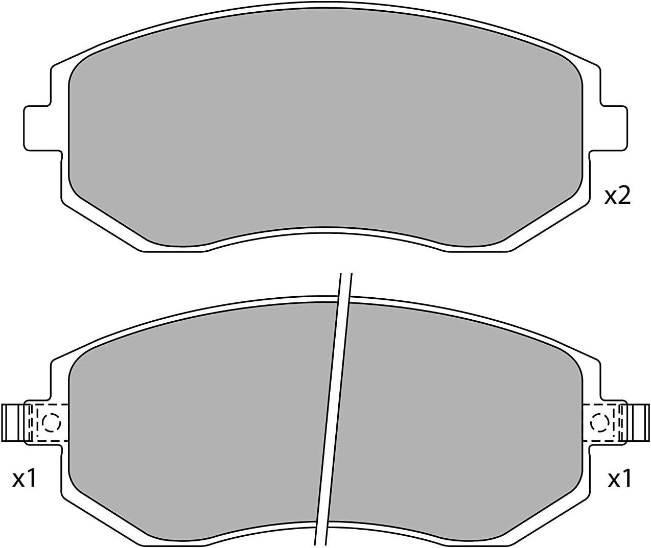 Set of 4 Celect CS2386501J Disc Brake Pad Set