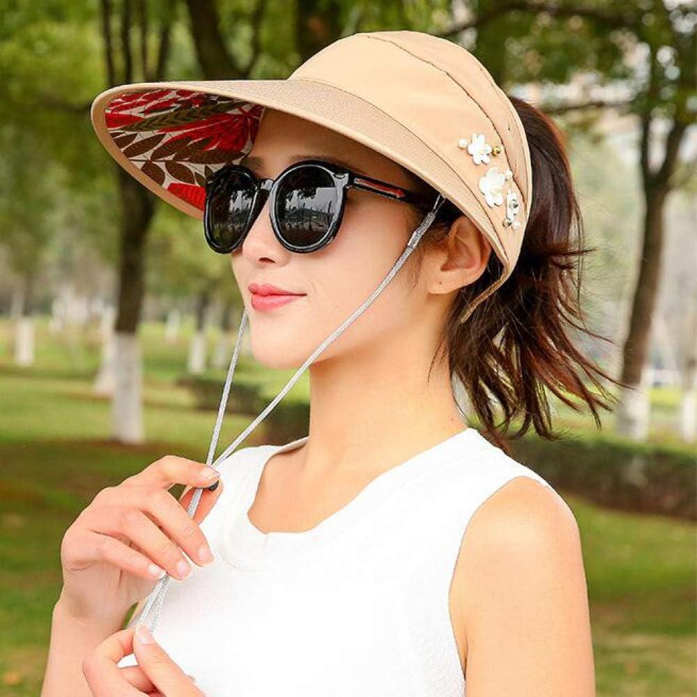 Sombreros Mujer Viseras Gorras para Sol Verano Sombrero Protector ...