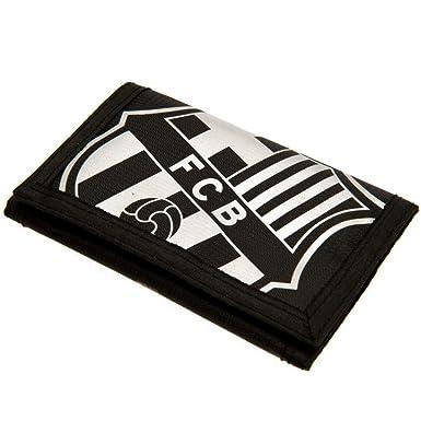 FCB FC Barcelona - Cartera de nylon con cierre adhesivo