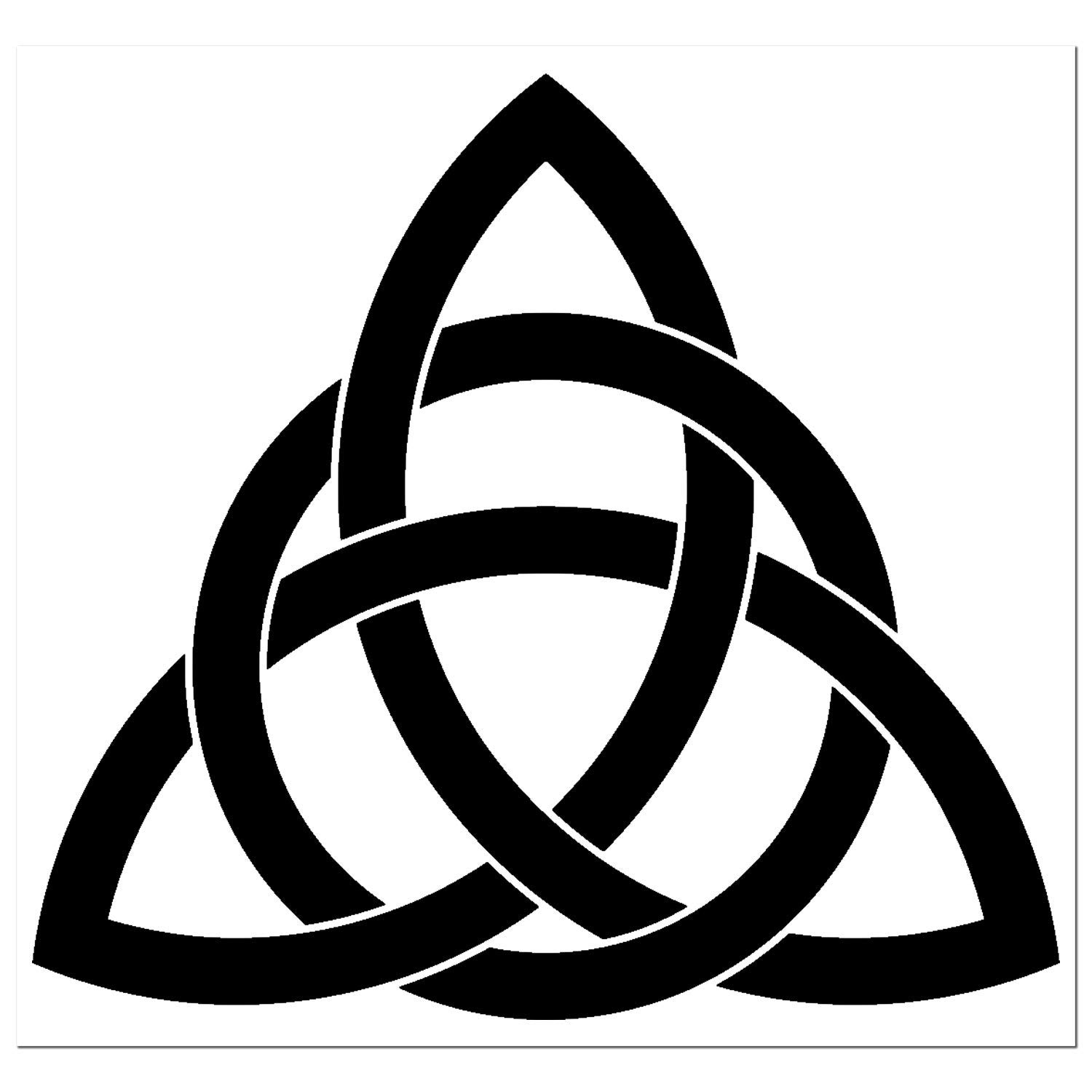 Infinity Celtic Knot Decal//Sticker Trinity Knot Eternity Triquetra Style Holy Trinity Zippy Stickers Many Colors and Sizes to Choose From