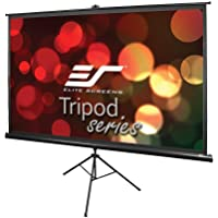 Elite Screens Tripod, 100-inch, Adjustable Multi Aspect Ratio Portable Pull up Projection Projector Screen, T100UWH