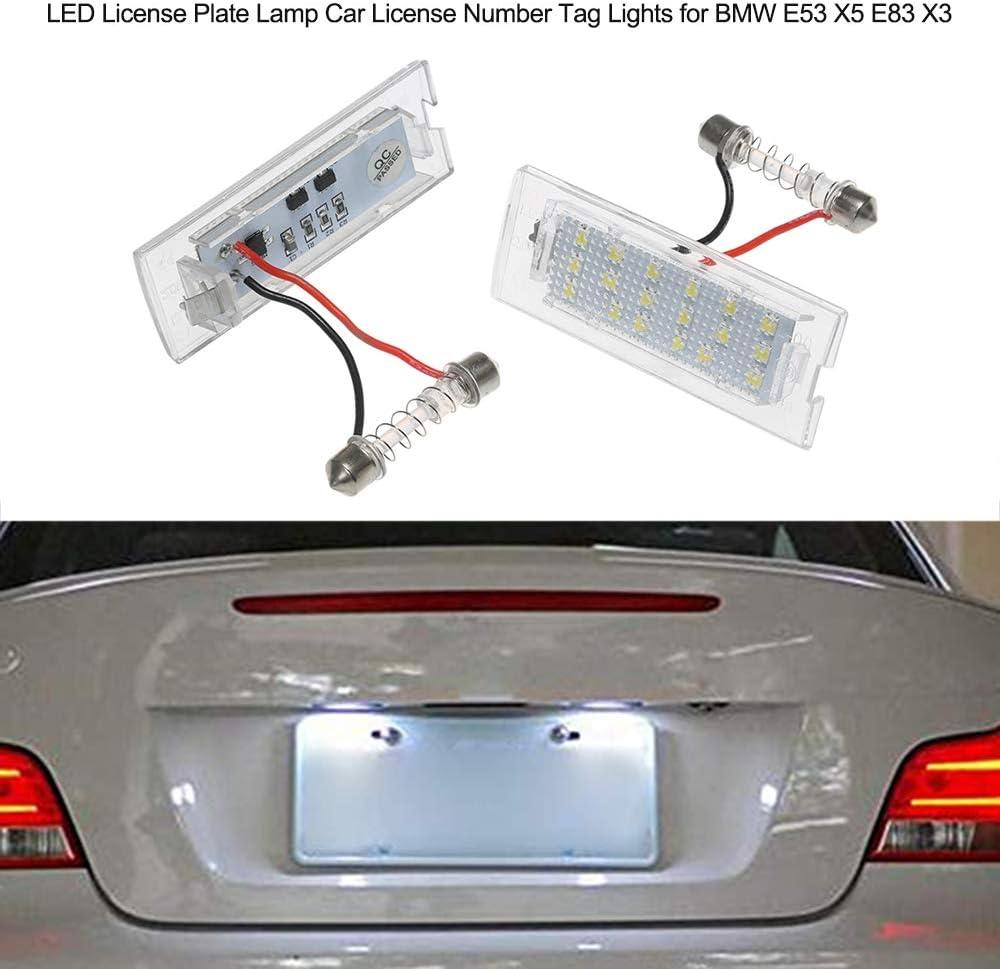 Festnight Luci Targa automobilistica per Auto Targa LED per BMW E53 X5 E83 X3