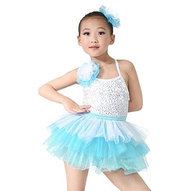 9479db2ef Amazon.com  MiDee Dance Dress Ballet Costume Lovely Girls Camisole ...