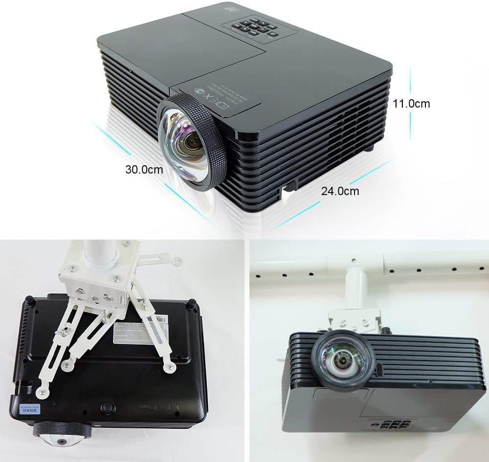 UT200 Proyector Tiro Corto, NIERBO 3D Proyector LED portátil de ...