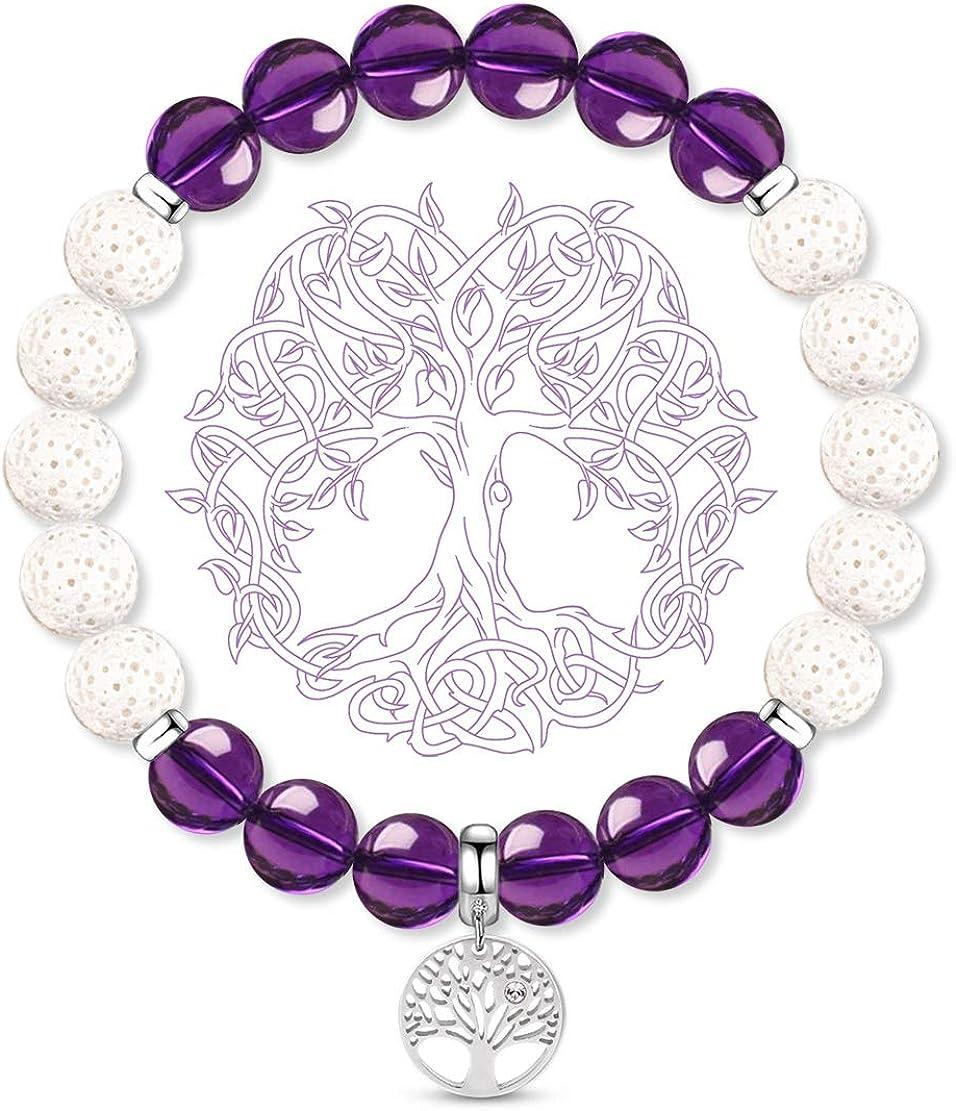 Crystal Jewelry Anxiety Bracelet Item No.3007 Diffuser Jewelry MOSS AGATE BRACELET Gemstone Bracelet Jasper Bracelet