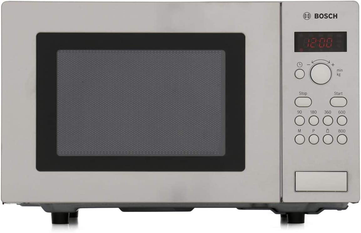bosch hmt75m451b serie 2 freestanding 800w microwave oven brushed steel