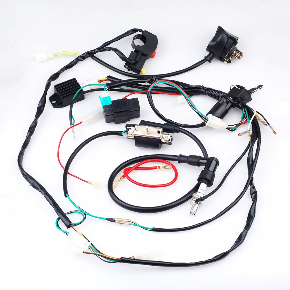 Amazon.com: Full Wiring Loom Harness Kick Electric Start Engine 50cc 110cc  125cc Dirt Trail Bike: Automotive