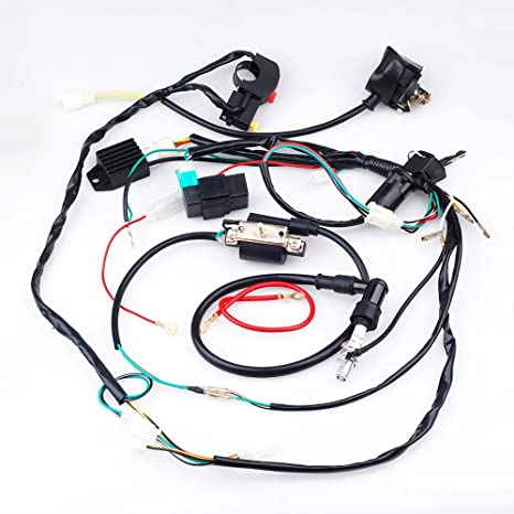 amazon cisno plete electrics cdi coil wiring loom harness System Wiring Harness amazon cisno plete electrics cdi coil wiring loom harness kick for 50cc 110cc 125cc atv dirt bike automotive