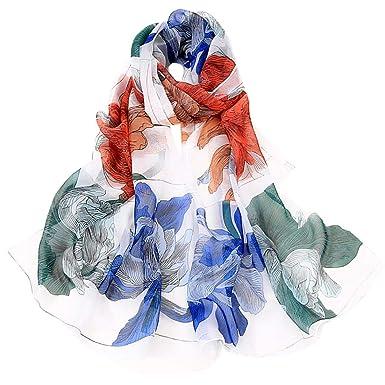 1pcs Femme Foulard en Mousseline de Soie Écharpe Mince Châles Couleur Unie  Simple Elégante pour Printemps Automne (A)  Amazon.fr  Vêtements et  accessoires e51cb43f549