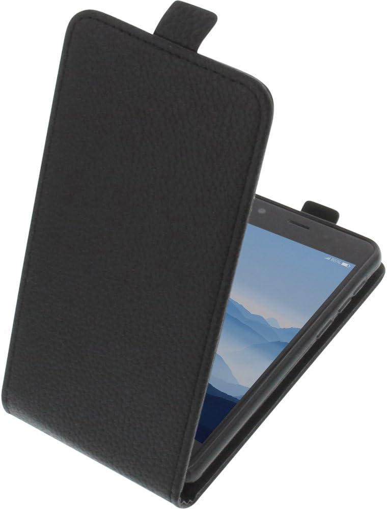 foto-kontor Funda para Elephone P8 Mini Protectora Tipo Flip para móvil Negra: Amazon.es: Electrónica