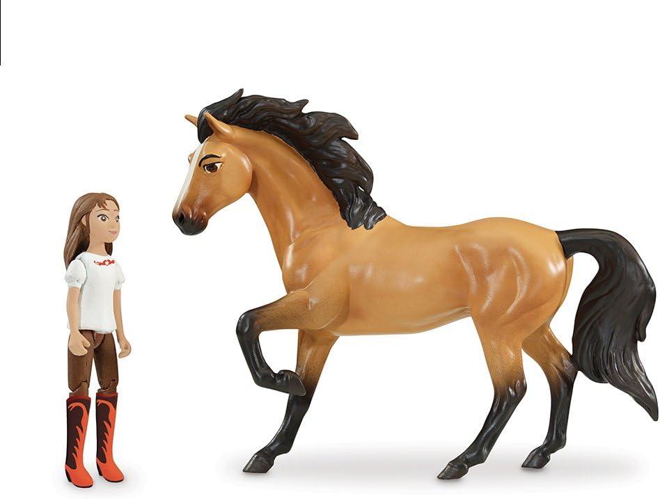 Mattel GXF55 Spirit Vag/ón de tren de Lucky Set de juego con mu/ñeca de juguete y accesorios de moda y viaje