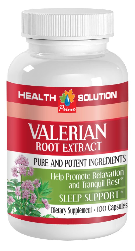 Nerve help - VALERIAN ROOT EXTRACT - Valerian pills - 1 Bottle 100 Capsules by Health Solution Prime