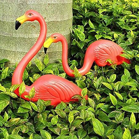 Bluelover 2Pcs Jardín Decoración Artificial Flamencos Rojos Patio Paisaje Ornamento: Amazon.es: Hogar