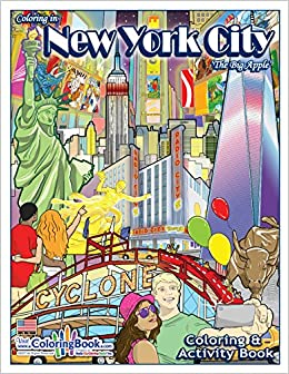 New York City The Big Apple Coloring Book 8 5 X 11 Coloringbook Com Coloringbook Com Coloringbook Com 9781619532182 Amazon Com Books