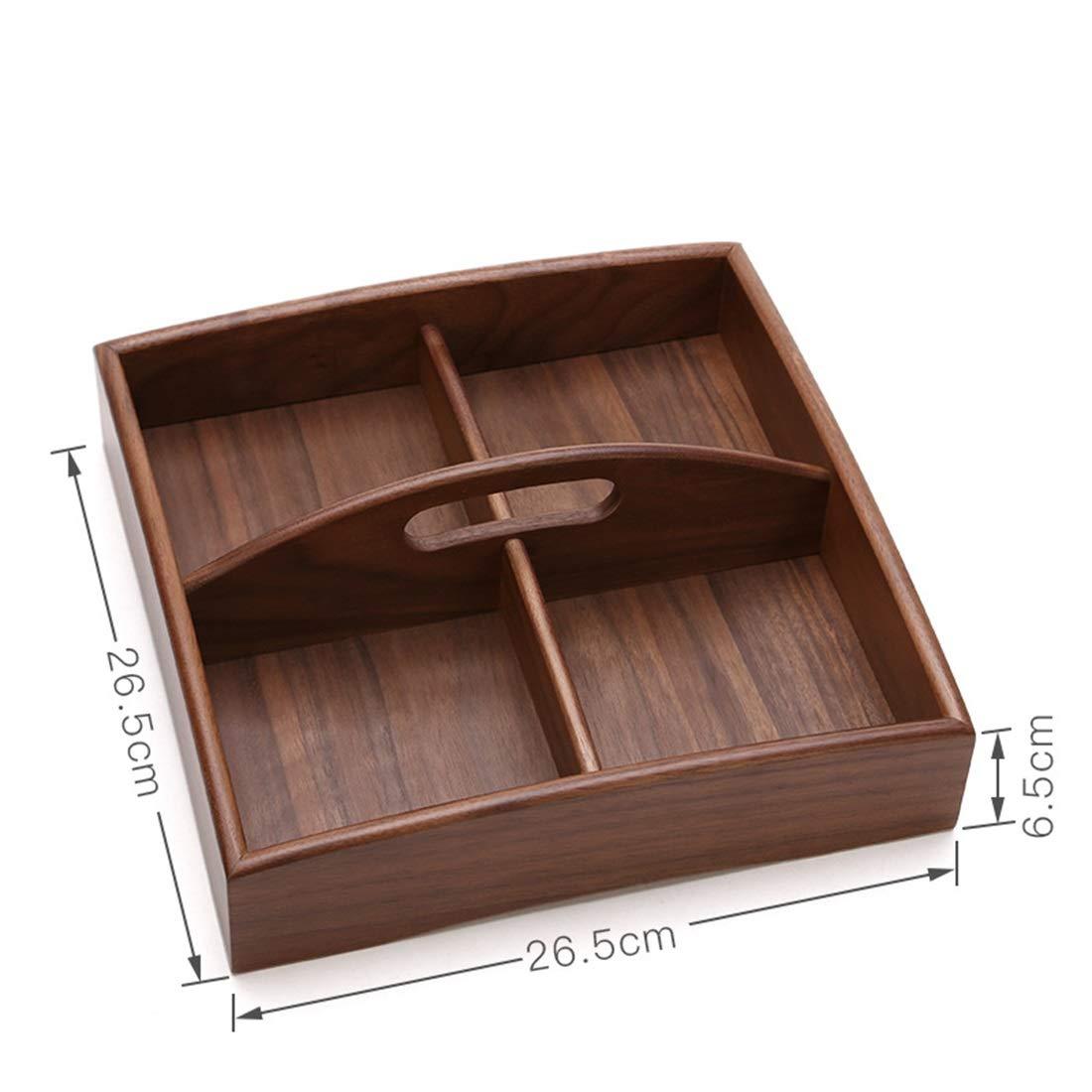 FELICIAAA スナックディッシュは、オフィスのデスクトップで使用することができますレジャーメロンフルーツボックス (Color : Wooden 3) B07PHFFK4Z Wooden 3