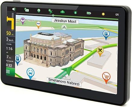 Coche GPS navegación Wifi de cuatro núcleos android 4.4.2 Bluetooth pantalla capacitiva de 7 pulgadas navegador GPS para camiones 8 GB vida UE y UK mapas por junsun: Amazon.es: Electrónica