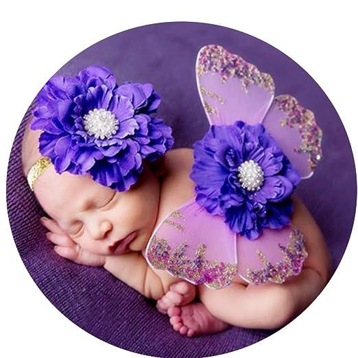 Yishelle Nacido Bebé Prop Trajes para fotografía Ropa, Hada Rosa ...