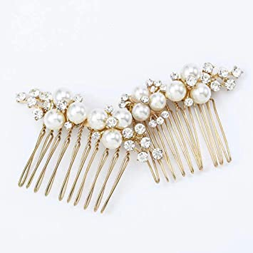 Black Diamante Hair Comb 2 pc Set Weddings Prom New 10cm